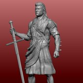 Prochainement sur www.3d-fablab.com William Wallace #williamwallace #3dprinting #3dmodeling #3dprint #3dprinter